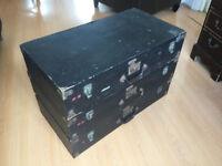 Vintage wooden trunk cases x3