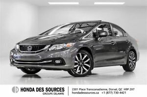 2013 Honda Civic Sedan Touring 5AT * Cuir * Toit * Navigation *