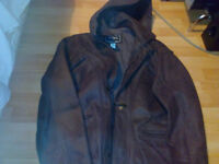 Mens real leather jacket like new