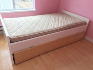 Twin bed and storage for sale