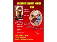 Jukebox Sunday Night Jive the popular1940's and 50's vintage jive night