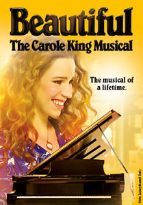 2 tickets- Beautiful The Carol King Musical on August 11