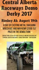 Aug. 19th Demolition Derby!!