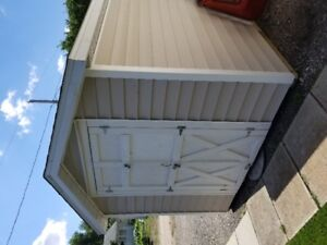 Plywood Shed unit with Vinyl Siding