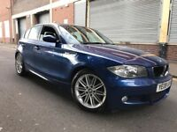 BMW 1 SERIES 2008 2.0 120d M Sport 5 door AUTOMATIC, FULL SERVICE HISTORY, LEATHER, BARGAIN