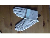 Cream Leather Gloves