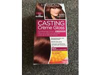 Casting créme gloss - Mahogany 550 (Cheryl Coles Red Hair) for 28 washes.