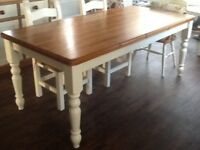 Pine and cream family table