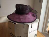 Mauve & Black Wedding Hat