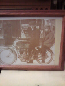 Old Harley riding photo