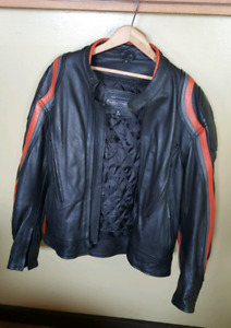 Mens Leather Motorcycle  Jacket. (New) $550