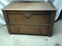 wooden blanket chest possible shabby chic or toy /box