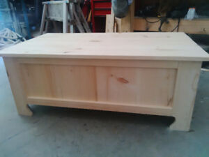 Unfinished Handcrafted Pine Coffee Table