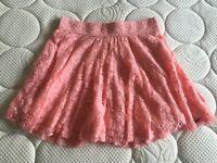 Pink Lace Hollister Skater Skirt