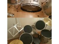Performance Percussion drumkit, full kit, uk delivery available, includes silencer pads