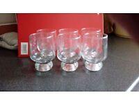 6 x glass tumblers approx 12.75ml