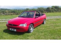 ford escort convertible with PRIVATE PLATE cabriolet