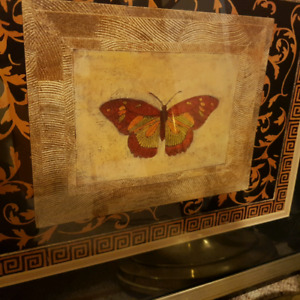 Mixed Media Butterfly Painting