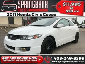 2011 Honda Civic Coupe SI V-TECH w/Sunroof $99B/W INSTANT APPROV