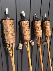 4 Bamboo outdoor lamps