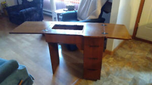 Sewing machine cabinet only