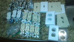 Assorted outlets, switches, and covers