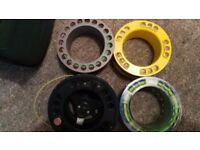 sharps of aberdeen fly fishing reel and 3 spools and 4 quality lines