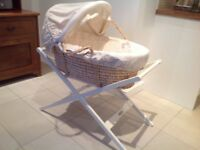 Mamas & Papas Once Upon a Time Moses basket and stand. VGC