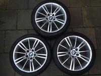 BMW genuine 18 tyres with Alloys Set of 3 Good Tread 235/40Z R18 , 225/40Z R18