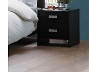 Capella - 2 Draw bedside tables - Black - 3 available