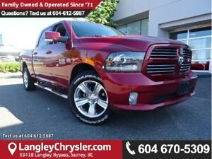 2014 RAM 1500 Sport ACCIDENT FREE w/ 4X4, U-CONNECT BLUETOOTH...
