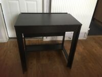 Small black office desk for sale