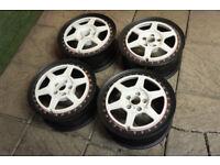"Genuine Rays Engineering GTP 16"" Alloy wheels 5x100 Splits Audi A3 VW Golf Polo Alloys Celica Subaru"