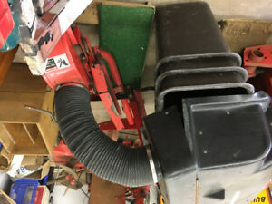Leaf and grass nagger for gravely tractor