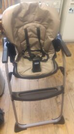 CHICCO HIGH CHAIR WITH TRAY. 6-36 MONTHS.