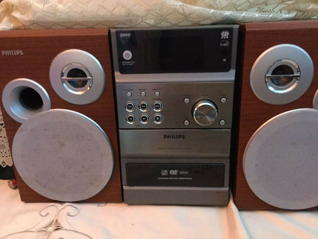 philips dvd micro theater stero system mcd295 in southwark london gumtree. Black Bedroom Furniture Sets. Home Design Ideas