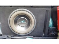 12 inch subwoofer + amp mono