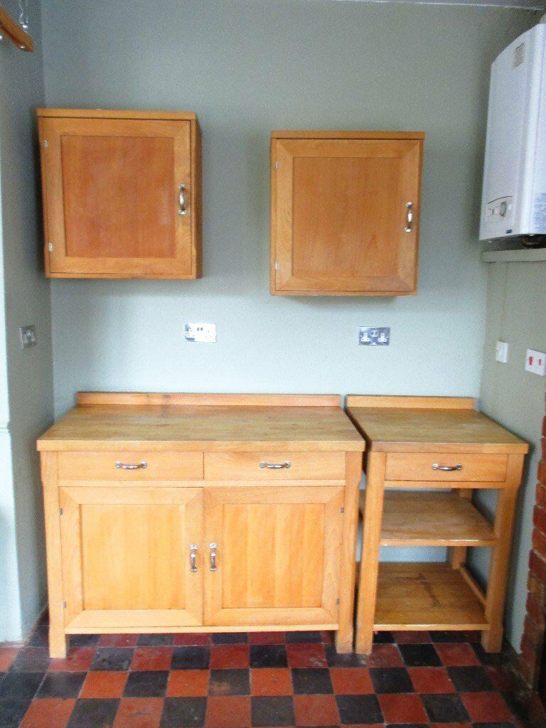 Habitat oliva solid beech free standing kitchen units for for Kitchen units for sale