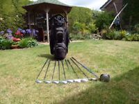 golf clubs King Cobra irons graphite shafts driver and rescue club and bag