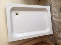 shower tray and glass enclosure sliding door base 70cm x 100cm all in good condition