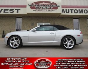 2015 Chevrolet Camaro 2LT RS CONVERTIBLE, LEATHER, HUD, FLAWLESS
