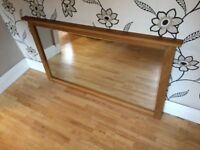 LARGE 4 FEET 6 INCH LONG WOODEN WALL MIRROR