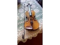 Violin with bow, two available.