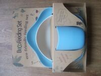 BECO FEEDING SET - ECO FRIENDLY BABY FEEDING SET - BIODEGRADABLE - BLUE & NATURAL - BRAND NEW