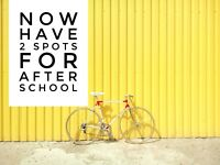 2 after school spots open for sept