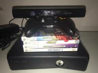 Xbox 360 Kinect + 4 games + controller