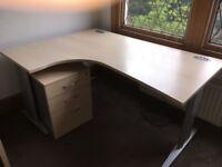 Beech corner office desk