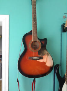 Rogue RAGSEQ-SN Acoustic / Electric Guitar. Only $100
