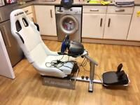 Playseat Evolution (PS4/PS3/Xbox 360/Xbox One/PC DVD) and steering wheel and seat slider