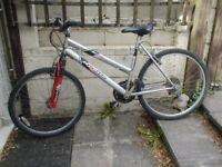 "Apollo revival ladies / unisex mountain bike 18 speed , suspension , 26"" wheels"